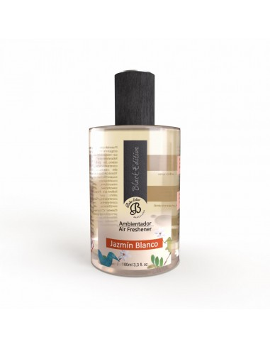 Ambientador en Spray Black Edition Jazmin Blanco 100 ml. PACK 6 UNIDADES